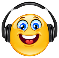 Headphone emoticon